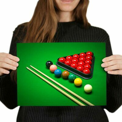 AMERICAN POOL POSTER BILLIARDS PRINT WALL ART A3 A4 SIZE