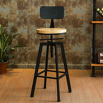 Iron Chair Vintage Pub Dining Breakfast Bar Stools Industrial Retro Stools Cast