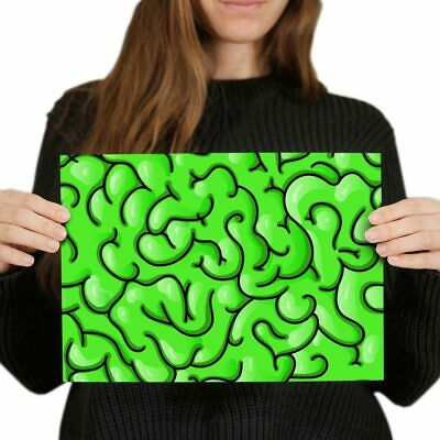 "Green Zombie Brain Fun Small Photograph 6/"" x 4/"" Art Print Photo Gift #2317"