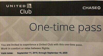 Two (2) United Airlines Club Lounge Passes E-delivery. EXPIRES Sept 18,2020.