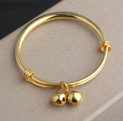 1Pc Childrens Baby Toddle Kids Little Girls Jewelry Bracelet Gold 18K GP Safety
