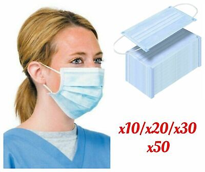 DISPOSABLE 3 PLY FACE MASK DISPOSABLE SURGICAL FACE SALON DUST MASK Ear Loop
