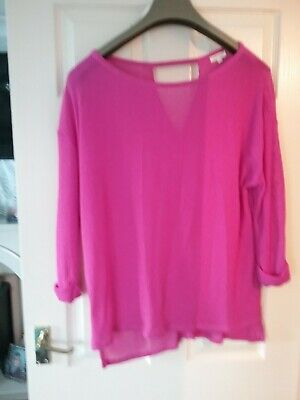 River Island Pretty Summer Pink Jumper Size 16