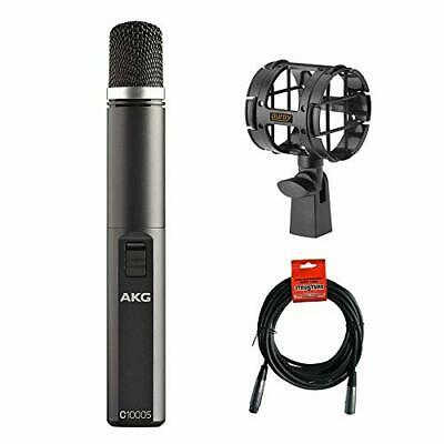 AKG C1000 S Small-Diaphragm Condenser Microphone w/ Shockmount & XLR Cable