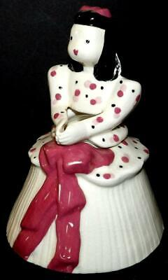 Vintage Cleminsons of California BUTTON HOLDER GIRL FIGURINE 1948