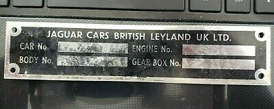 Jaguar E-Type & XJ Chassis Plate Ships in 24 hours!