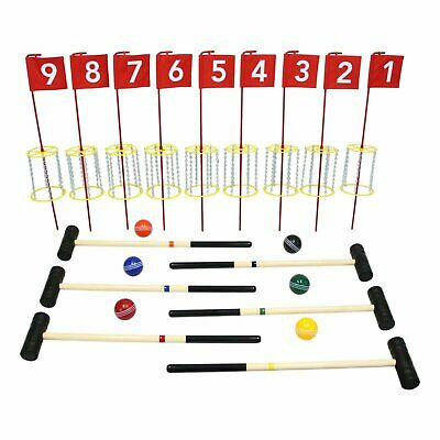 Amish-Made Deluxe Flag Croquet Golf Game Set