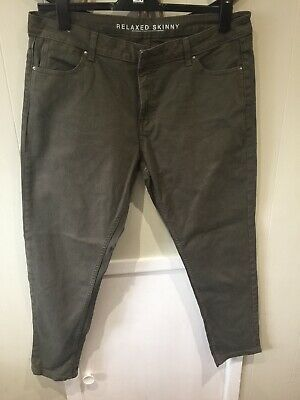 marks and spencer khaki Jeans Size 18 Long Bnwot