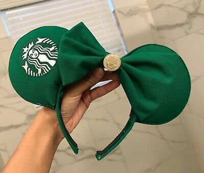 Starbucks Coffee Inspired Disney Parks Minnie Mouse/Mickey Mouse Ears Headband