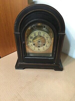 Antique Cathedral Arch German Westminster Chime Clock Case Junghans Becker Era