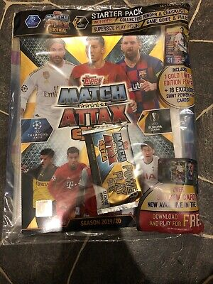 Match Attax Extra 2019/20 Sealed Binder/Album Inc 17 Cards Inc Gold Limited
