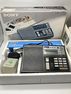 SONY FM/LW/MW/SW World Band Receiver Model No. ICF-7600D Vintage Tested & Works!