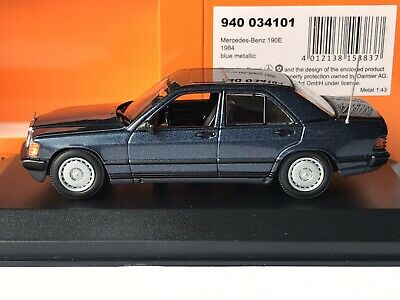 Minichamps 940 034101 Mercedes-Benz 190E W201 1984 Blau met./ Blue metallic 1:43