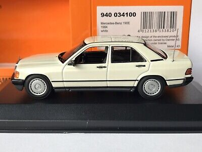 Minichamps 940 034100 Mercedes-Benz 190E W201 1984 Weiß / White 1:43