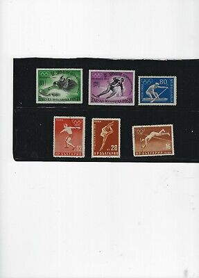 Stamps Bulgaria-lot of six Olympic  issues -1960-1964-1956-1958-3 mint-3used