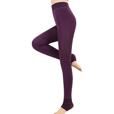 Warm Thermal Leggings, Women's Winter Thermo Leggings with Soft Inner Fleece,