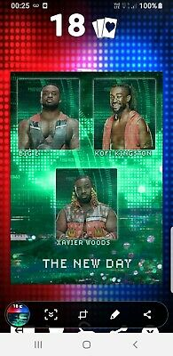 Topps WWE Slam Digital Card 115cc New Day factions & stables motion Award 2020