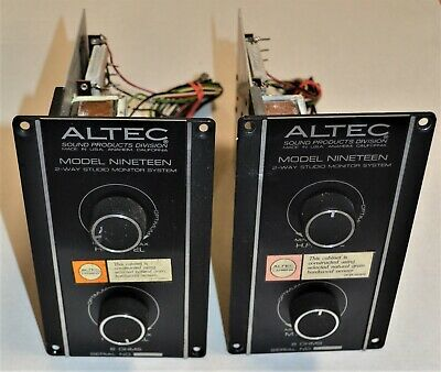 pair of vintage Altec Model 19 Nineteen Speaker Crossovers