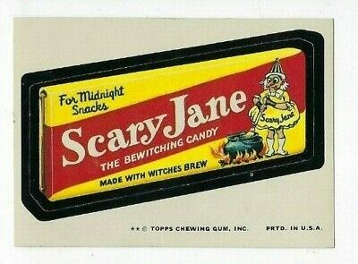 1974 Topps Wacky Packages 10th Series 10 SCARY JANE CANDY nm
