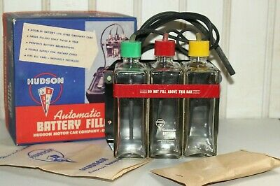 b) Vintage Hudson Motor Car Co Automatic Battery Filler
