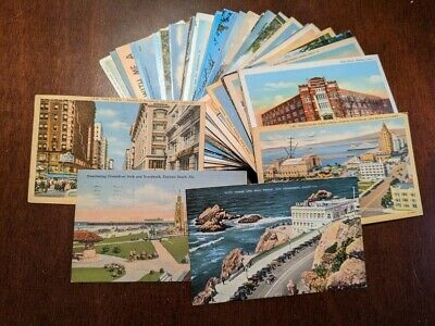 Vintage USA Postcards Lot 1 - Lot of 150+ Mostly early to mid 1900s