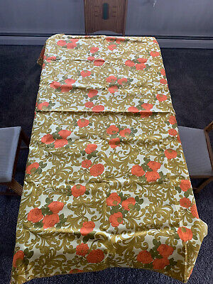 """Vintage New,    Floral Pattern Table Cloth  70"""" X 51"""""""