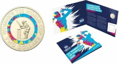 2020 ICC Women's T20 World Cup Cricket $2 Coin In Official RAM Folder