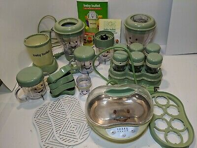 BABY BULLET FOOD MAKING SYSTEM ~ FOOD PROCESSOR & TURBO STEAMER Lot W/ Booklets