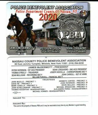"2020 Nassau County Pba Card "" Not Cea Lba Sba Pba Card ****Pls Make Offer****"