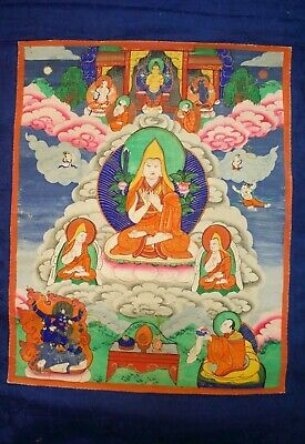 Antique Tibet Mongolian Buddhist Thangka