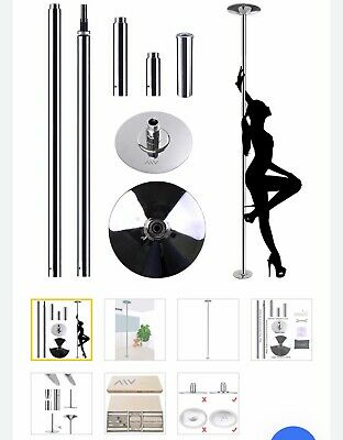 45mm Portable Dance Pole Static Spinning Stripper Dancing Fitness Exercise Party