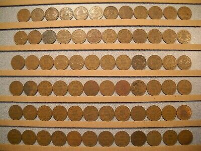 CANADA ONE CENT - 1920 to 1936 - Lot of 89 King George V Canadian Penny