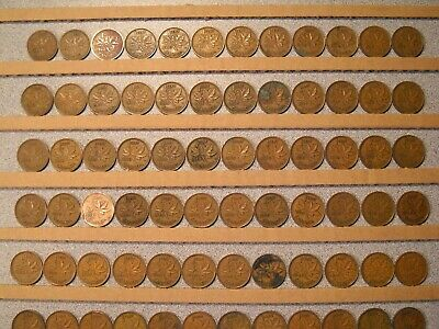 CANADA ONE CENT - 1937 to 1951 - Lot of 99 King George VI Canadian Penny