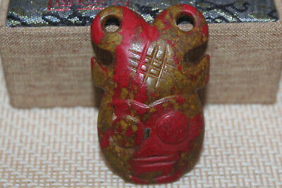 Ancient Chinese Hongshan culture turquoise carved amulet