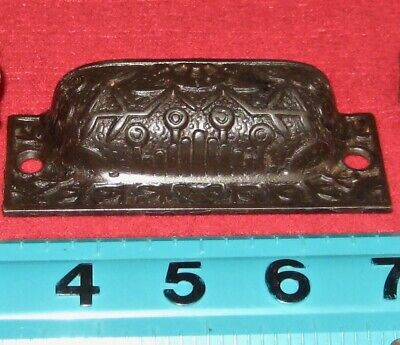 Antique Vintage Victorian Cast Iron Cup Style Ornate Drawer Pull — Free Shipping
