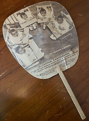 Dionne Quintuplets PAPER FAN advertising Valley City Ford Dealer 1930s