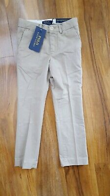 Ralph Lauren Polo Boys Stylish Skinny Fit Beige Suit Trousers Chinos Age 4 Years