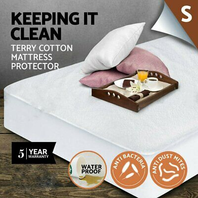 Fully Fitted Waterproof Sofa Terry Towelling Cotton Mattress Protector Cover CHE
