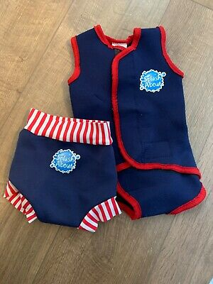 Splash About Medium happy nappy and wetsuit navy and red