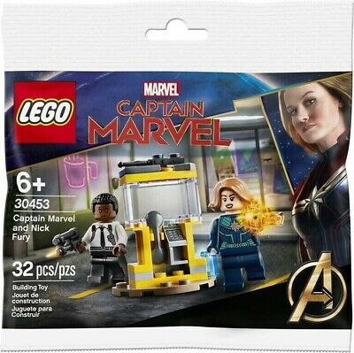 LEGO MARVEL HEROES - Captain Marvel and Nick Fury - 30453 - New - Polybag - AU