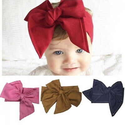 New Knot Baby Vintage Adjustable Bow Infant Big BowKnot Headband Retro Cute Hair