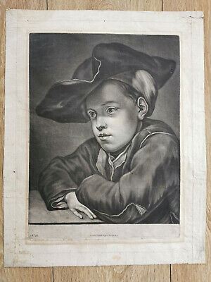 Gottlieb Heiss (1681-1740) Large Etching Engraving Antique Old