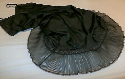 Vintage  Accordian Pleat Lacy Nylon  Full Slip---Bust To 38""
