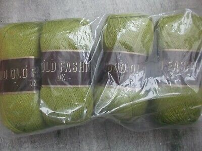 Good Old Fashioned DK olive  green Double Knitting Yarn 500g