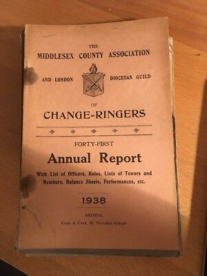 Middlesex And London Diocesan Guild Of Change Ringers Annual Report 1938