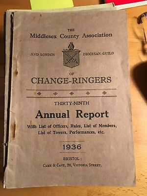 Middlesex And London Diocesan Guild Of Change Ringers Annual Report 1936