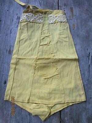 Vintage Yellow Bathing Suit Found In Old Store-Stock  1950-60