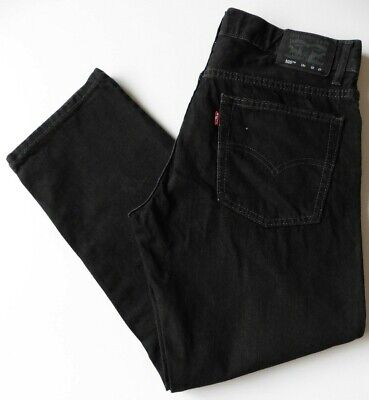 Boys' Men's Levis 505 Straight Leg Jeans W32 L26 Black Levi Strauss Size 32S