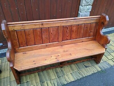 Matching Pair 5' Long Pine Church / Chapel Pews. Lovely Honey Colour and Patina.