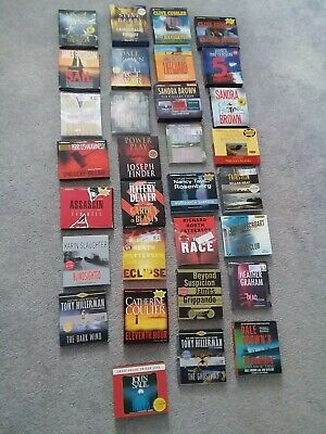 Mixed Lot Of 31 Audio Books CD Fiction Crime Murder Thrillers Mystery Suspense